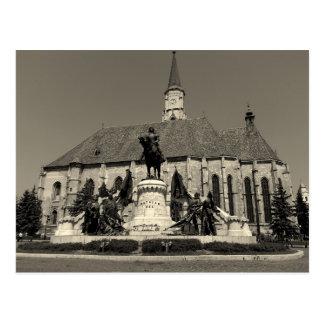 マティアスCorvinus記念碑およびセントマイケル教会 ポストカード