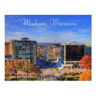マディソンウィスコンシンの写真のデジタル芸術の郵便はがき ポストカード