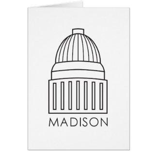 マディソンウィスコンシンの国会議事堂の建物 カード
