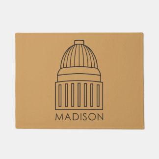 マディソンウィスコンシンの国会議事堂の建物 ドアマット
