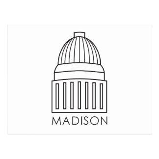マディソンウィスコンシンの国会議事堂の建物 ポストカード