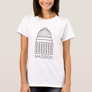 マディソンウィスコンシンの国会議事堂の建物 Tシャツ