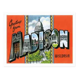 マディソンウィスコンシン米国都市からの挨拶 ポストカード