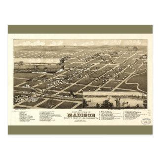 マディソンレイク郡サウスダコタ(1883年) ポストカード