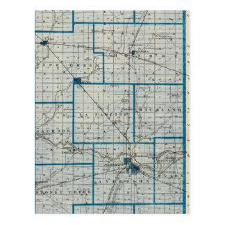 マディソン郡の地図 ポストカード