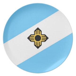 マディソン都市旗のウィスコンシンの州アメリカの国 プレート