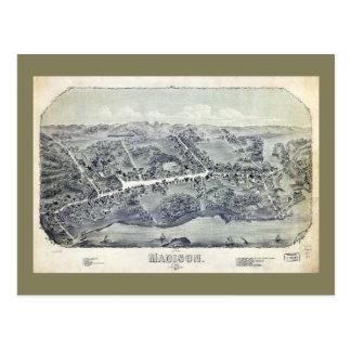 マディソン、コネチカット(1881年)の空中写真 ポストカード