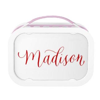 マディソン-モダンな書道の名前のデザイン ランチボックス