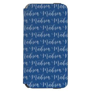 マディソン-モダンな書道の名前のデザイン INCIPIO WATSON™ iPhone 5 財布型ケース