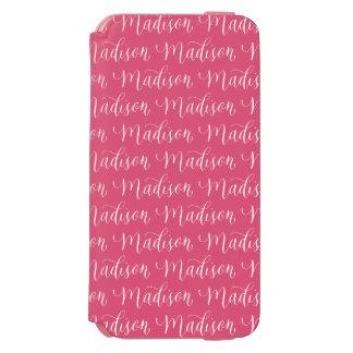 マディソン-モダンな書道の名前のデザイン INCIPIO WATSON™ iPhone 6 ウォレットケース