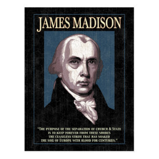 マディソン-教会及び国家 ポストカード