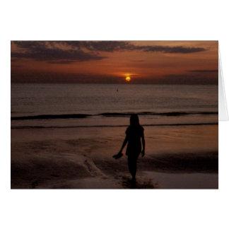 マデイラのビーチの日没 カード