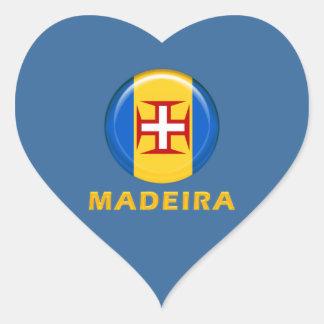 マデイラの島の旗 ハートシール