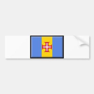 マデイラの島の旗 バンパーステッカー