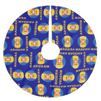 マデイラの島の旗 ブラッシュドポリエステルツリースカート
