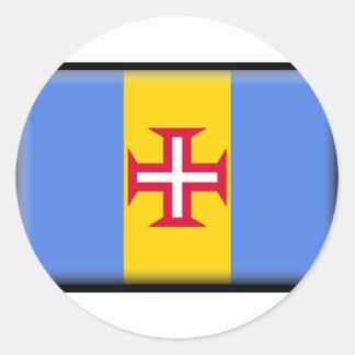 マデイラの島の旗 ラウンドシール