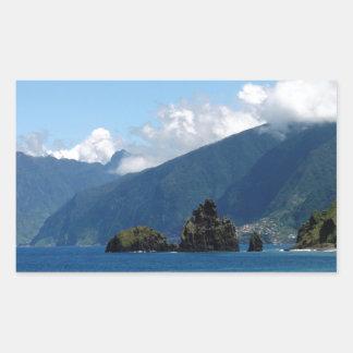 マデイラの島 長方形シール