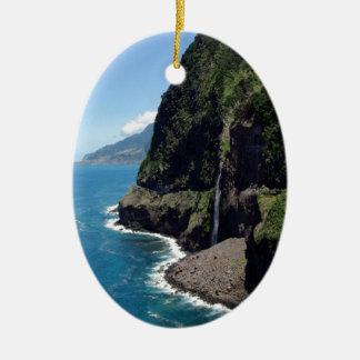 マデイラの崖そして海 セラミックオーナメント