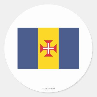 マデイラの旗 ラウンドシール