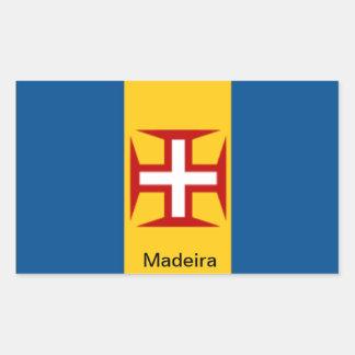 マデイラの旗 長方形シール