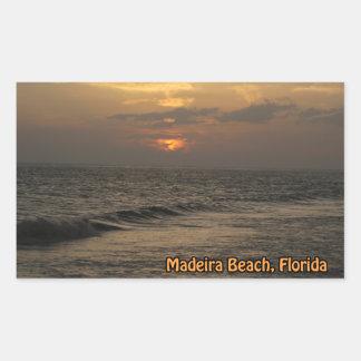 マデイラの日没のステッカー 長方形シール