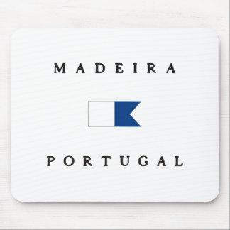 マデイラポルトガルのアルファ飛び込みの旗 マウスパッド
