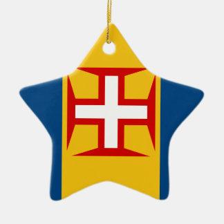 マデイラ(ポルトガル)の旗 セラミックオーナメント