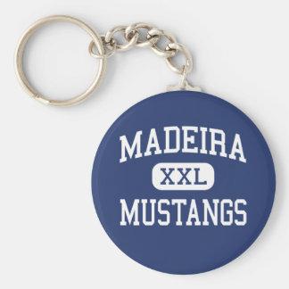 マデイラ-ムスタング-高等学校-シンシナチオハイオ州 キーホルダー