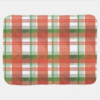 マドラスの格子縞のクリスマス ベビー ブランケット