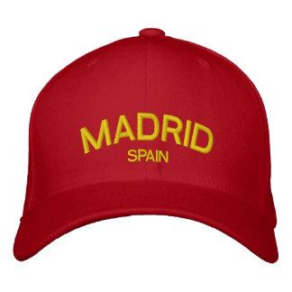 マドリードのスペインによって刺繍される帽子 刺繍入りキャップ
