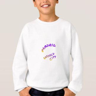 マドリードの世界都市手紙の芸術色のユーロパ スウェットシャツ