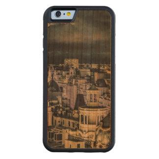 マドリードの都市景観夜場面空中写真 CarvedチェリーiPhone 6バンパーケース