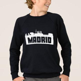 マドリードスペインのスカイライン スウェットシャツ