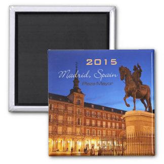 マドリードスペインの夜場面磁石の変更年 マグネット