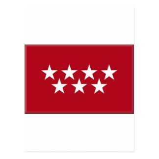 マドリードスペインの(地方)旗 ポストカード