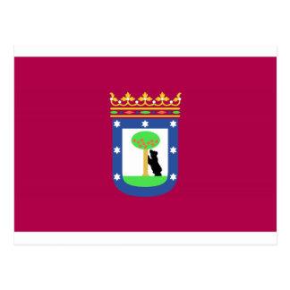 マドリードスペイン(都市)の旗 ポストカード