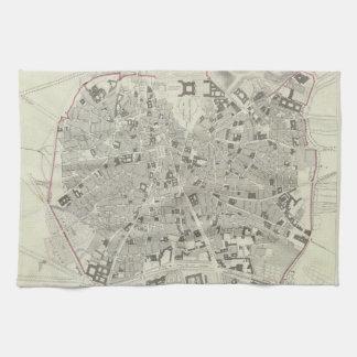 マドリードスペイン(1831年)のヴィンテージの地図 キッチンタオル