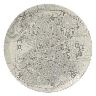 マドリードスペイン(1831年)のヴィンテージの地図 プレート