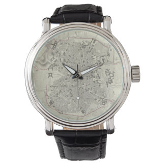 マドリードスペイン(1831年)のヴィンテージの地図 腕時計