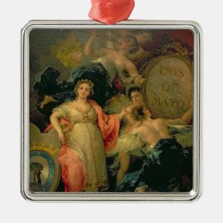 マドリード1810年市のアレゴリー メタルオーナメント