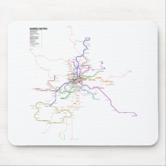 マドリード(スペイン)の地下鉄の地図 マウスパッド