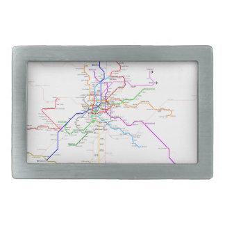 マドリード(スペイン)の地下鉄の地図 長方形ベルトバックル