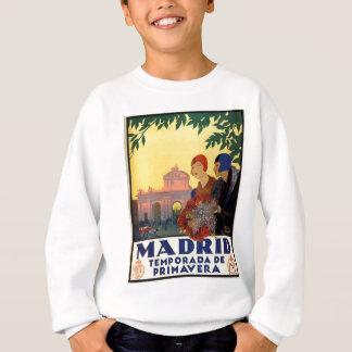 マドリードTemporada de Primavera -ヴィンテージの芸術ポスター スウェットシャツ