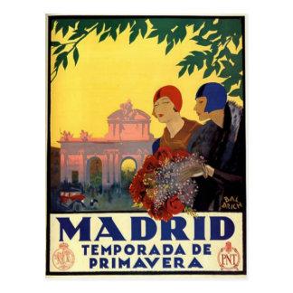 マドリードTemporada de Primavera -ヴィンテージの芸術ポスター ポストカード