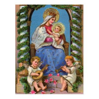 マドンナおよび子供との出生 ポストカード