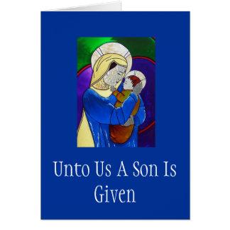 マドンナおよび子供のクリスマスカード カード
