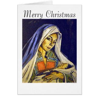 マドンナおよび子供のメリークリスマス カード