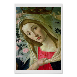 マドンナおよび子供は天使、の詳細によって戴冠しました ポスター