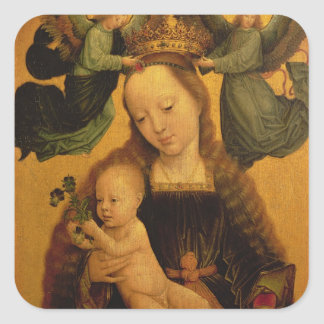 マドンナおよび子供は2つの天使、c.1520によって戴冠しました スクエアシール