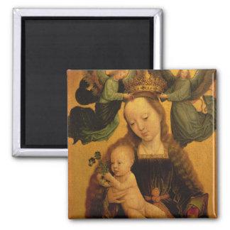 マドンナおよび子供は2つの天使、c.1520によって戴冠しました マグネット